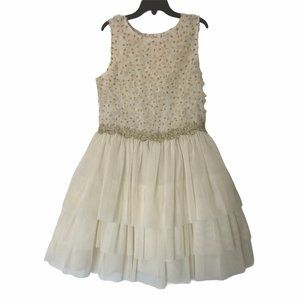 GIRLS NANETTE LEPORE FLORAL TIERED RUFFLE DRESS
